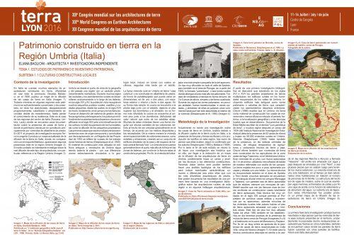 Patrimonio construido en tierra en la región Umbria (Italia) BAGLIONI ELIANA