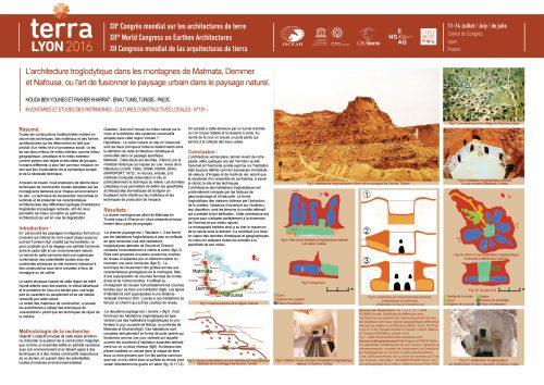 Architectures locales spécifiques au sud-est Tunisien et nord-ouest Libyen. La construction troglodytique : techniques et modes constructifs respectueux de l'environnement, exploitation des potentialités naturelles, cadre de vie des populations locales BEN YOUNES HOUDA & KHARRAT FAKHER