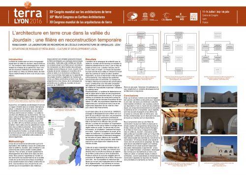 L'architecture en terre crue dans la vallée du Jourdain; une filière en reconstruction temporaire. DAHER Rania.