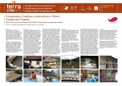 Conservation of earthen constructions in Sikkim, context and projects. BONNAT MELODIE