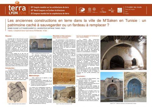 Les anciennes constructions en terre dans la ville de M'Saken en Tunisie : un patrimoine caché à sauvegarder ou un fardeau à remplacer ? YOUSSEF ZEINEB & KHARRAT FAKHER