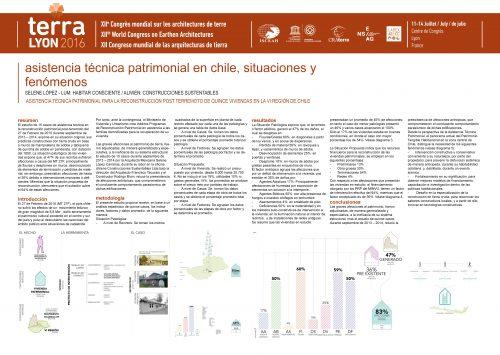Asistencia técnica patrimonial en Chile, situaciones y fenomenos. LOPEZ-LUM Selene