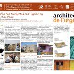Les missions des Architectes de l'Urgence au Pakistan et au Pérou. COULOMBEL Patrick