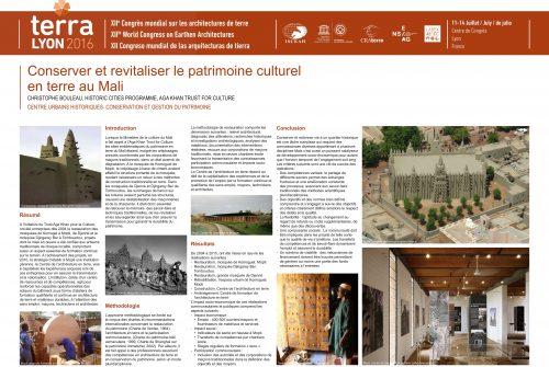 Conserver et revitaliser le patrimoine culturel en terre au Mali BOULEAU CHRISTOPHE